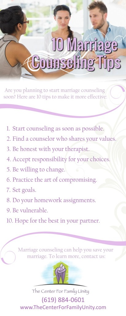10 Marriage Counseling Tips